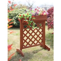 Convenience Concepts Redwood Wood Raised Planter Box