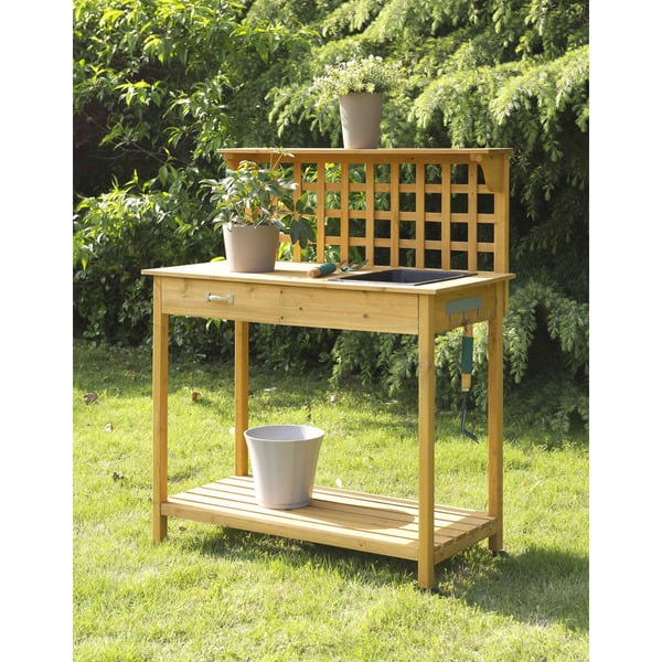 Fantastic Shop Convenience Concepts Lattice Potting Bench Free Ibusinesslaw Wood Chair Design Ideas Ibusinesslaworg
