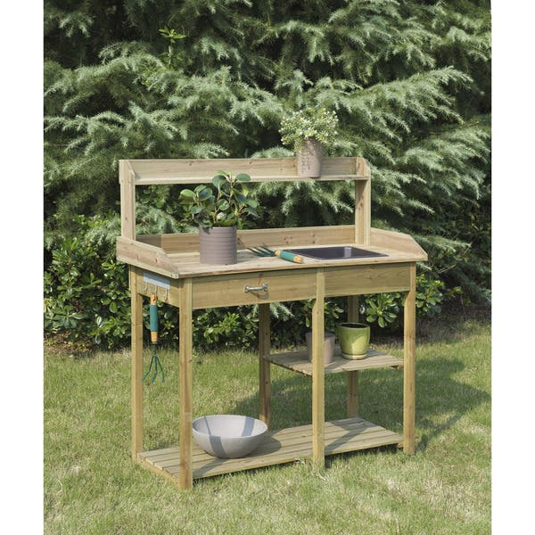 Cool Shop Convenience Concepts Deluxe Potting Bench Free Ibusinesslaw Wood Chair Design Ideas Ibusinesslaworg