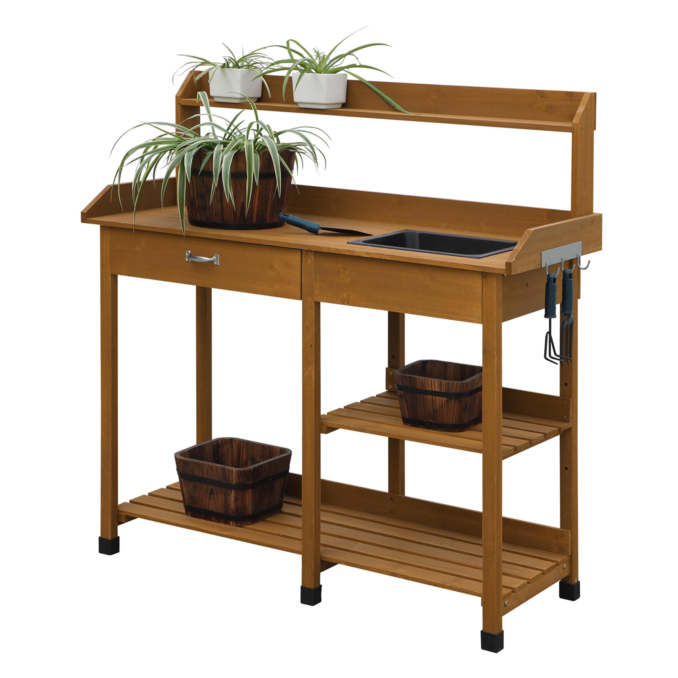 Fabulous Convenience Concepts Deluxe Potting Bench Ibusinesslaw Wood Chair Design Ideas Ibusinesslaworg