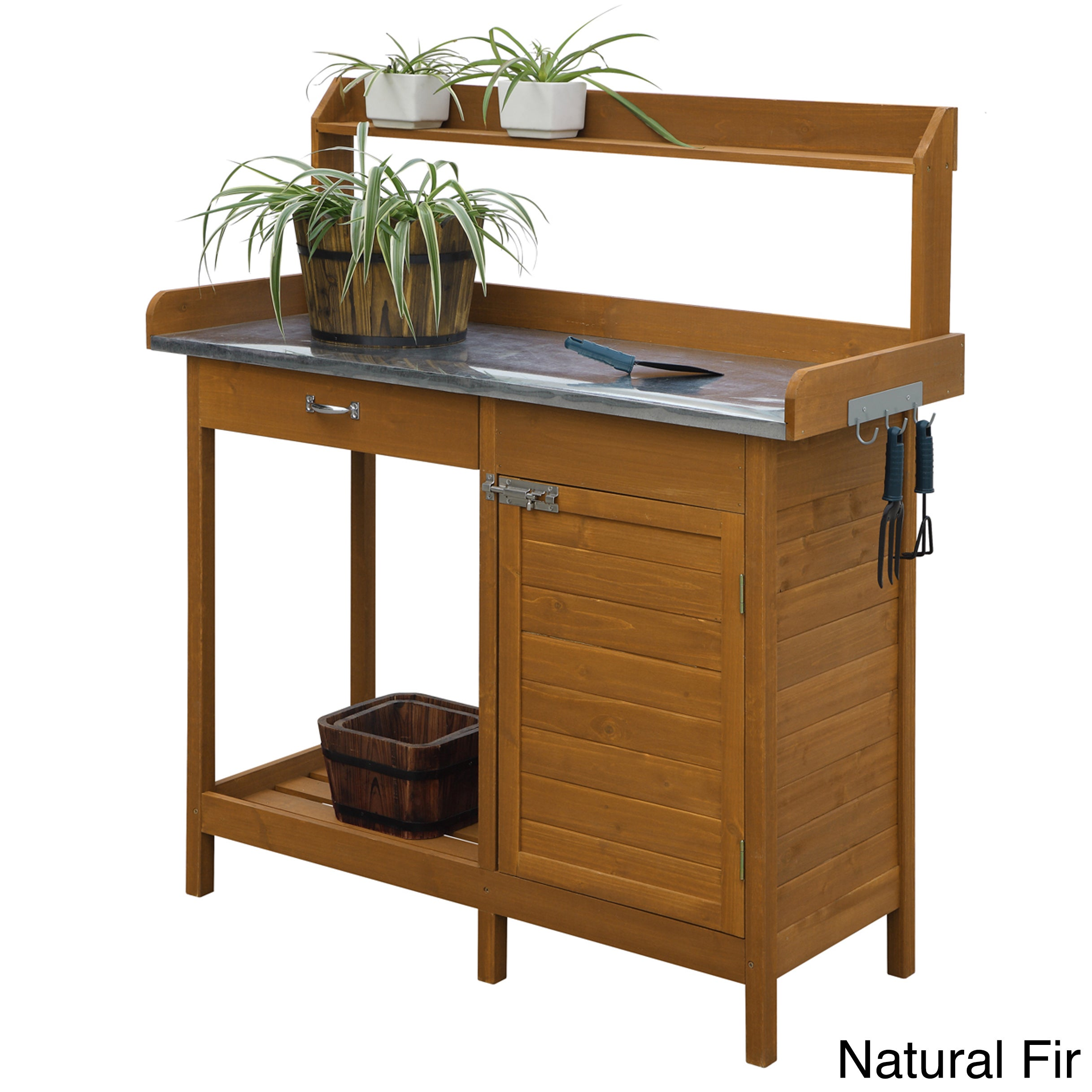 Convenience Concepts Cabinet Deluxe Potting Bench (Natura...