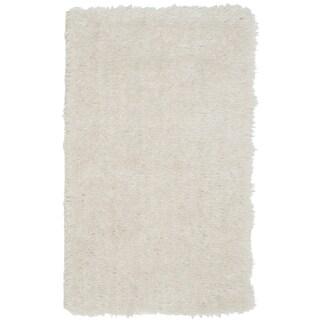 Safavieh Handmade Venice Shag Pearl Polyester Rug (2'3 x 3'9)