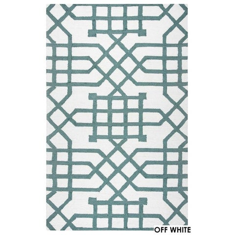Rizzy Home Grey Azzura HIll Indoor/Outdoor Geometric Area Rug (9' x 12') - 9' x 12'