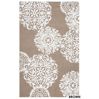 Rizzy Home Grey Azzura HIll Floral Area Rug (7'6 x 9'6)