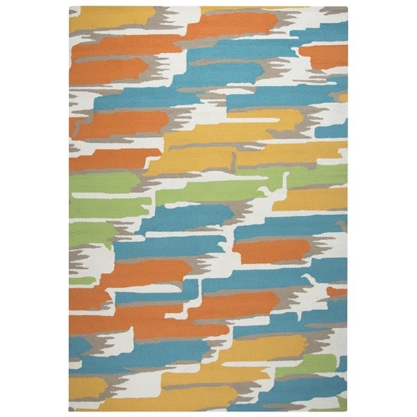 Rizzy Home Multi-color Azzura HIll Indoor/Outdoor Abstract Area Rug - 9' x 12'