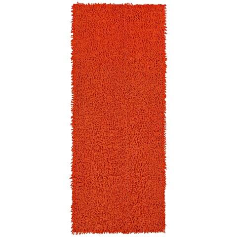 Orange Shagadelic Chenille Twist Shag Runner - 2'x5'