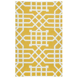 Rizzy Home Grey Azzura HIll Indoor/Outdoor Geometric Area Rug (7'6 x 9'6)