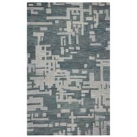 Rizzy Home Grey Leone Abstract Accent Rug - 8' x 10'