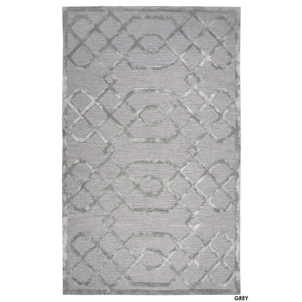 Rizzy Home Teal Monroe Collection Hand-Sheared Transitional Area Rug (8 x 10) - Free Shipping ...