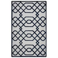 Rizzy Home Teal Monroe Collection Hand-Sheared Transitional Area Rug - 9' x 12'