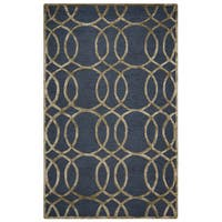 Rizzy Home Grey Monroe Collection Hand-Sheared Transitional Area Rug - 8' x 10'