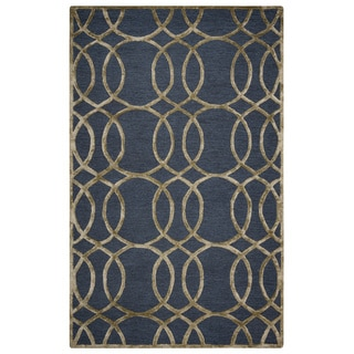 Rizzy Home Grey Monroe Collection Hand-Sheared Transitional Area Rug (9 x 12)