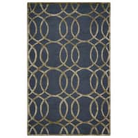 Rizzy Home Grey Monroe Collection Hand-Sheared Transitional Area Rug - 9' x 12'