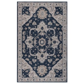 Rizzy Home IVORY Valintino Collection Border Area Rug (8 x 10)