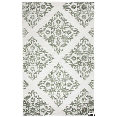 Milan Collection Light Gray Ornamental Rug