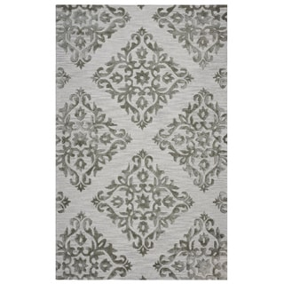 Rizzy Home Grey Eden Harbor Trellis Area Rug (9 x 12)