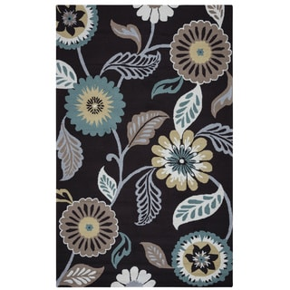 Rizzy Home Grey Azzura HIll Indoor/Outdoor Floral Area Rug (7'6 x 9'6)