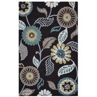 Rizzy Home Grey Azzura HIll Indoor/Outdoor Floral Area Rug - 7'6 x 9'6
