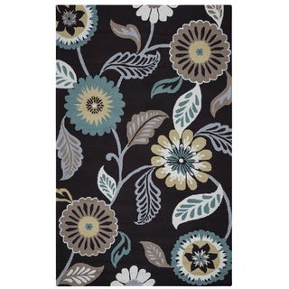 Rizzy Home Grey Azzura HIll Indoor/Outdoor Floral Area Rug (7'6 x 9'6) - 7'6 x 9'6