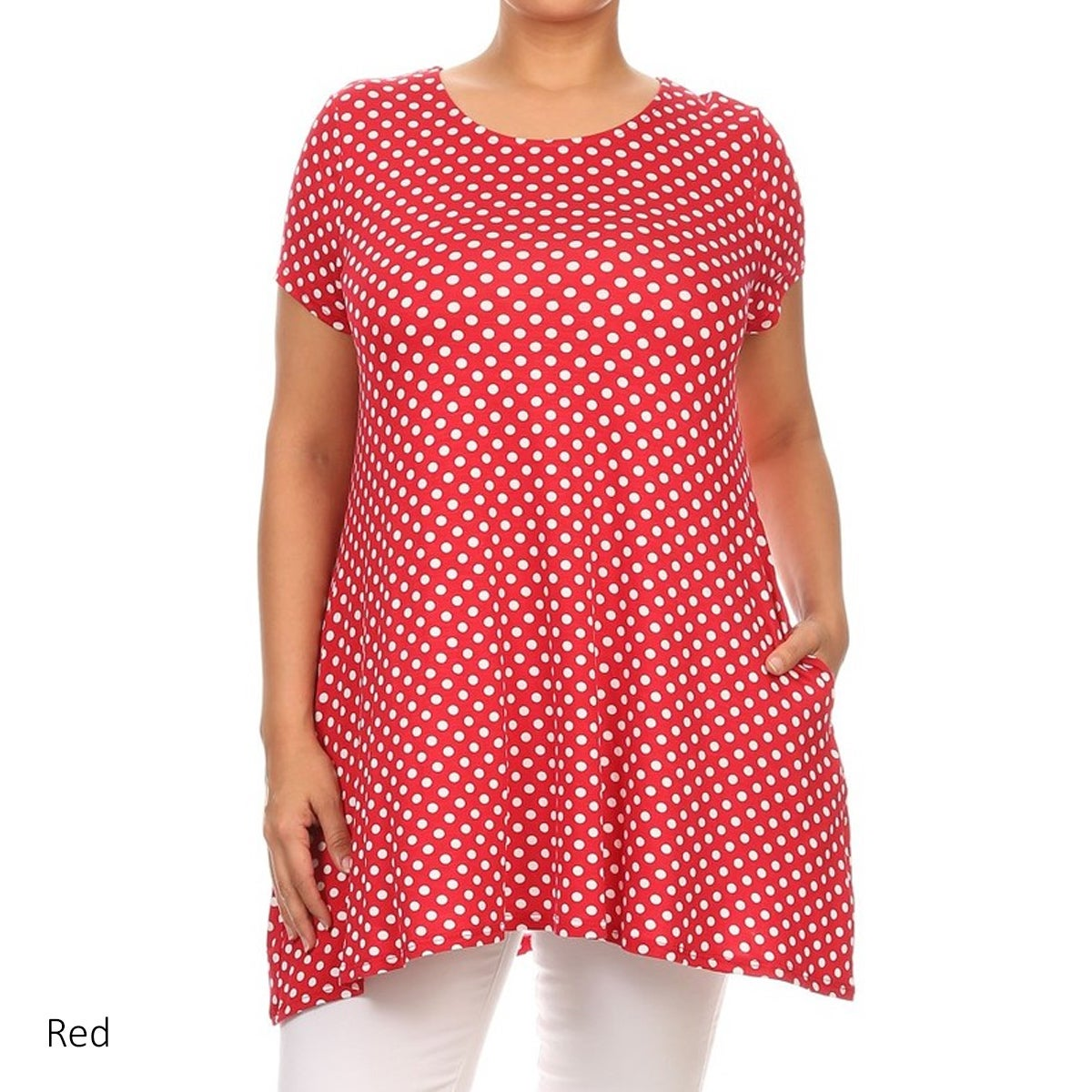 Shop MOA Collection Women\'s Plus Size Black, Red, White Polyester ...