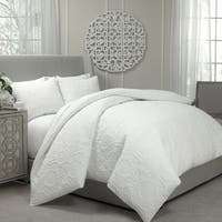 Gracewood Hollow Sutherland Quilted Coverlet and Duvet Cover Ensemble