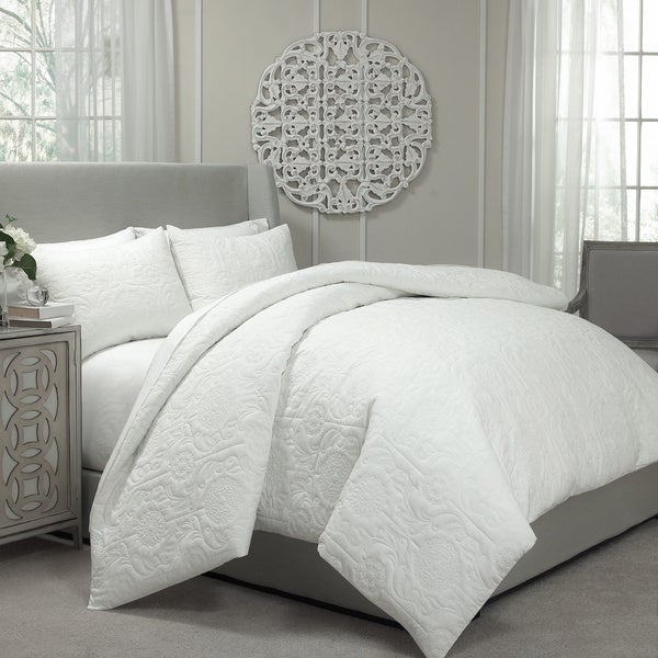 Vue barcelona quilted 2 in 1 duvet cover coverlet set - Laura ashley barcelona ...