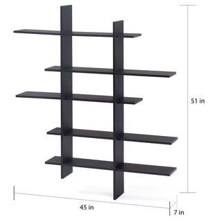Danya B™ Five Level Black Asymetric Wall Shelf
