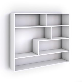 Danya B Large Rectangular White Shelf Unit