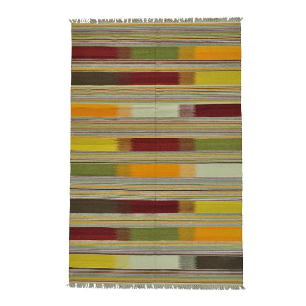Durie Kilim Colorful Flat Weave Hand Woven Oriental Rug