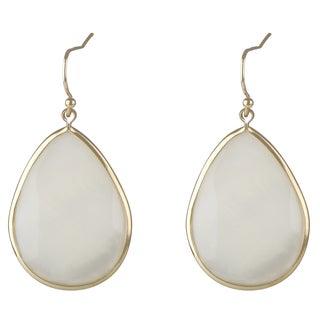 Imitation Pearl Pear Drop Earrings