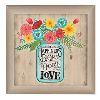 """""""Home Filled with Love"""" By Deb Strain, Printed Wall Art, Ready To Hang Framed Poster, Beige Frame"""