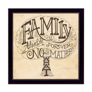 """""""Family - Always and Forever"""" By Deb Strain, Printed Wall Art, Ready To Hang Framed Poster, Black Frame"""