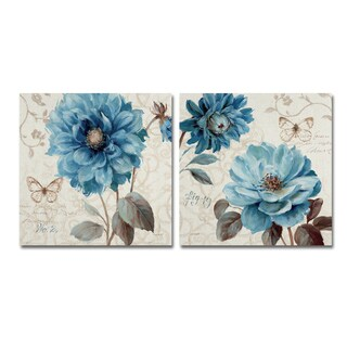 Lisa Audit 'A Blue Note' 2 Panel Art Set