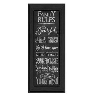 """Family Rules"" by Susan Ball Printed Framed Wall Art"