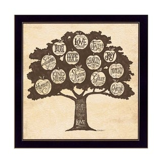 """""""Family Attributes I"""" By Deb Strain, Printed Wall Art, Ready To Hang Framed Poster, Black Frame"""