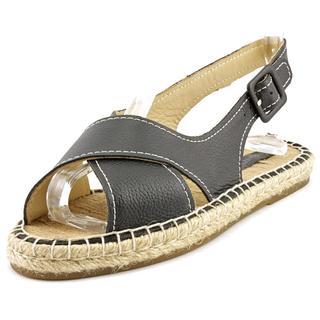 Pour La Victoire Women's 'Olivia' Black Nappa Leather Sandals