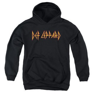 Def Leppard/Horizontal Logo Youth Pull-Over Hoodie in Black