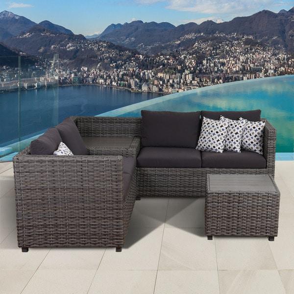 Atlantic Patio Furniture Reviews: Shop Atlantic Freeport Grey 3-piece Patio Sectional Set