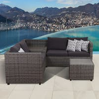 Atlantic Freeport Grey 3-piece Patio Sectional Set