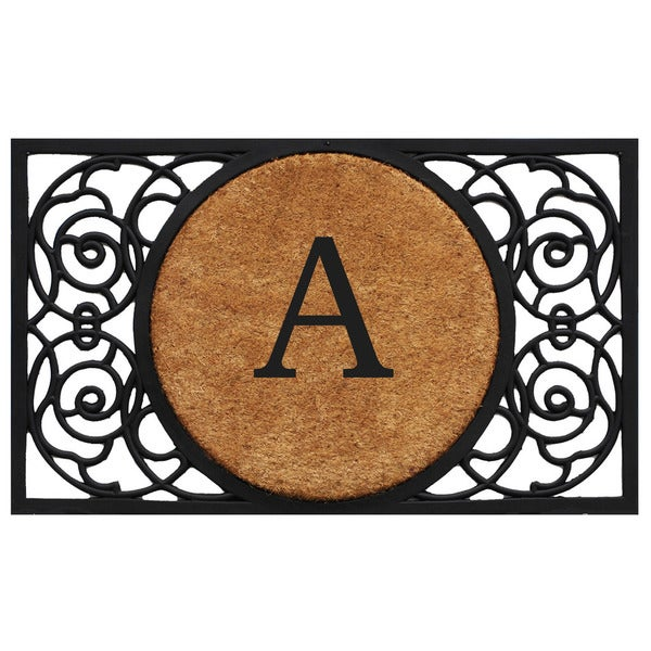 Armada Circle Monogram Doormat (1'10 x 3')