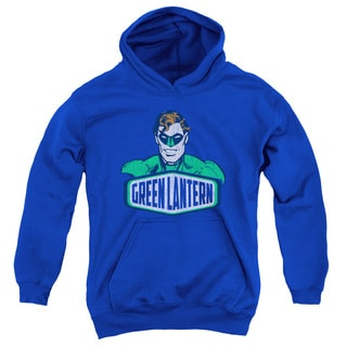 DCO/Green Lantern Sign Youth Pull-Over Hoodie in Royal