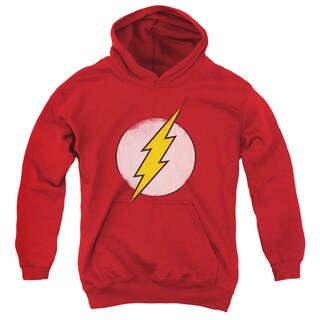 DCO/Rough Flash Logo Youth Pull-Over Hoodie in Red
