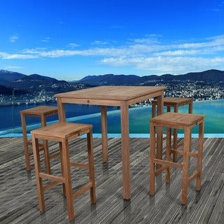 Amazonia Hartford Classic 5-piece Teak Square Bar Set