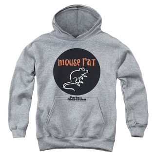 Parks & Rec/Mouse Rat Circle Youth Pull-Over Hoodie in Heather