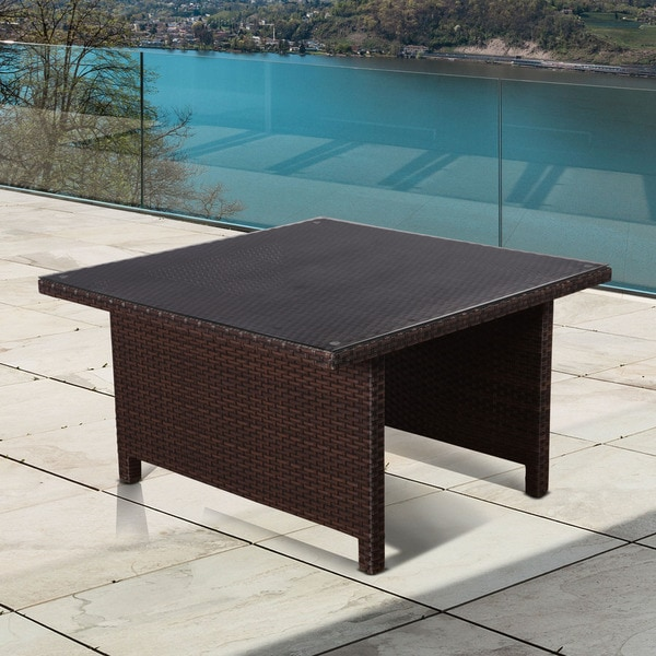 Patio Picnic Tables For Sale: Shop Atlantic Modena Square Brown Low Patio Dining Table