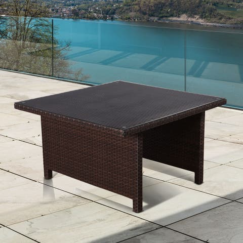 Atlantic Modena Square Brown Low Patio Dining Table - N/A