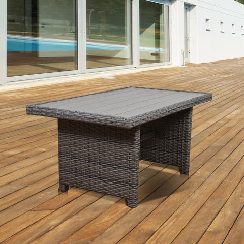 Atlantic Freeport Low Rectangular Grey Patio Dining Table