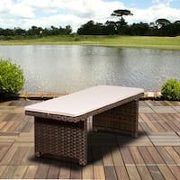 Atlantic Modena Brown 2-seater Patio Backless Bench