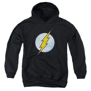 DCO/Flash Neon Distress Logo Youth Pull-Over Hoodie in Black