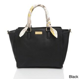 BCBG Scarf Story Satchel Handbag